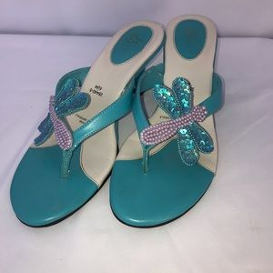 Life Stride Sequined Butterfly Heels Size 6 1/2